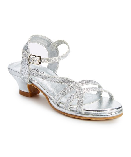 b3e4972208 love this product Silver Glitter Strappy Sandal - Girls