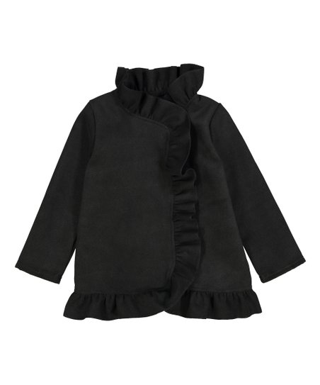 19d586bd3f41 Kid Fashion Black Ruffle Jacket - Toddler