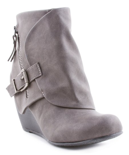 72b00dd29ab Blowfish Malibu Gray Flap Wedge Ankle Boot - Women
