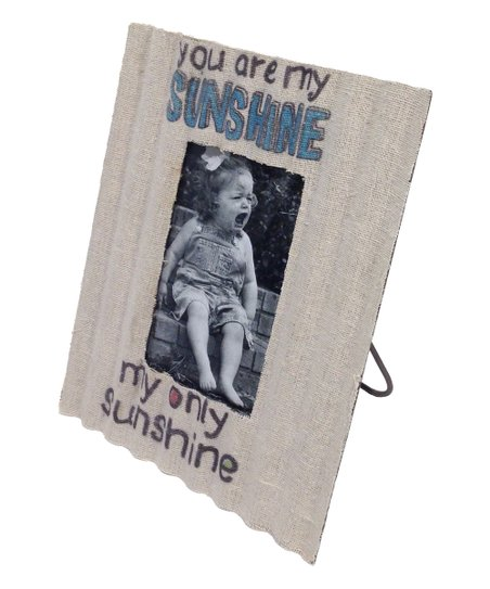 You Are My Sunshine Burlap Frame Zulily