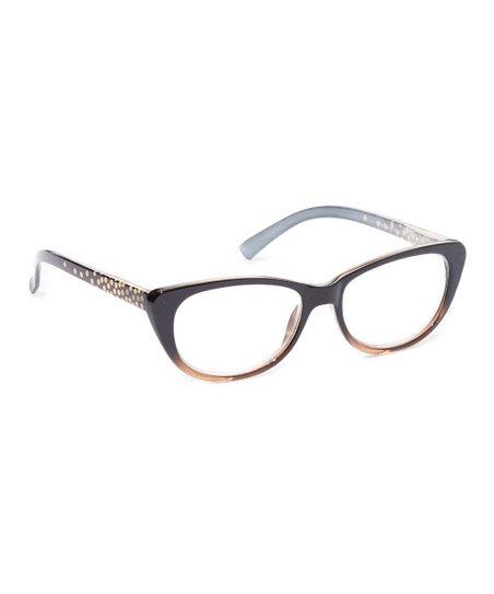 8b1cb89bacfc love this product Black   Gold Gradient Cat-Eye Fashion Reading Glasses