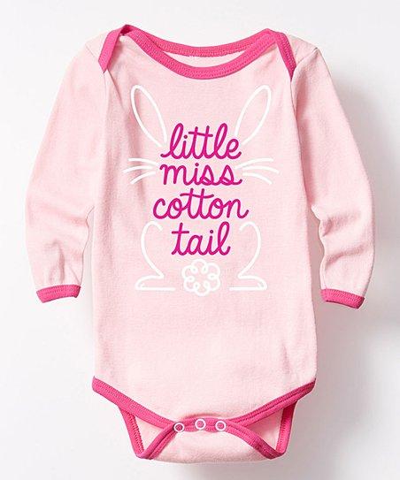 Pink Fuchsia Little Miss Cotton Tail Bodysuit Infant Zulily