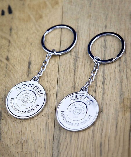 love this product White Gold Bonnie   Clyde Matching Key Chain - Set of 2 a1f48a68e