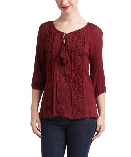 Simply Be Womens Tie Neck Top