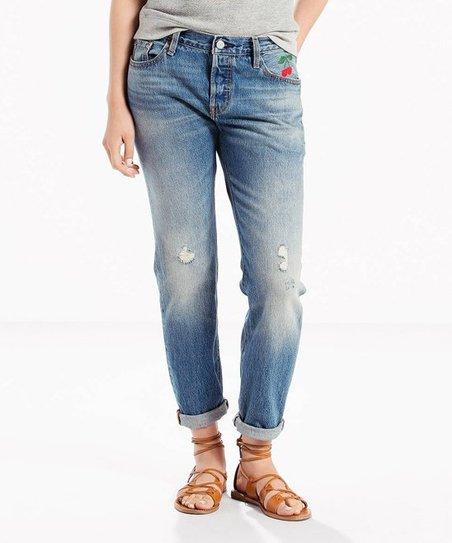 1845d33860c Levis Baked Sun Cherry 501® Distressed Boyfriend Jeans