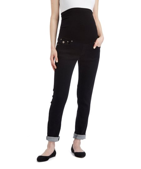 8969ac0648ace love this product Bella Vida Black Over-Belly Maternity Jeans
