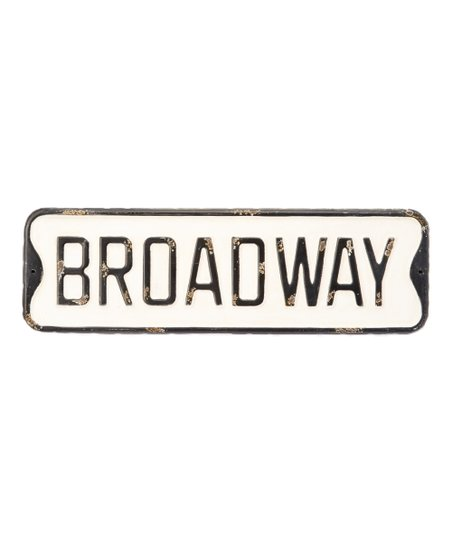 Vintage Broadway Street Sign Wall Decor Zulily