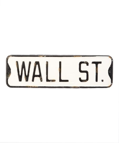 Vintage Wall Street Sign Wall Decor Zulily