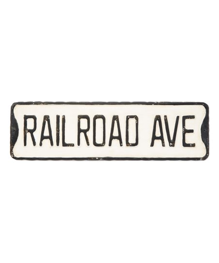 Pd Home And Garden Vintage Railroad Street Sign Wall Decor Zulily