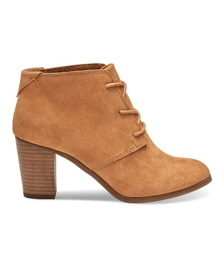 c2221761bc5 love this product Wheat Lunata Suede Lace-Up Bootie - Women