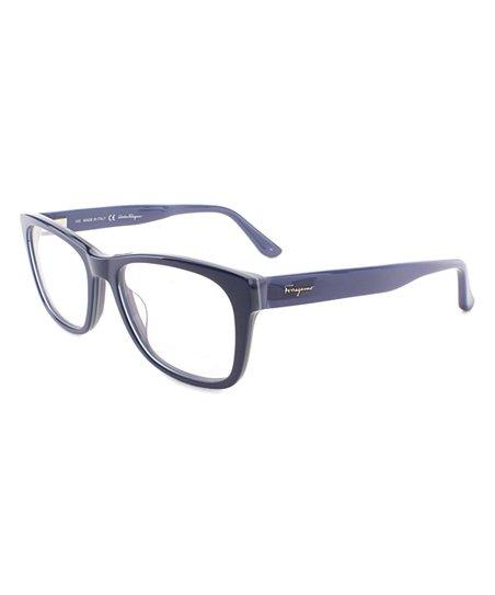 25c4b72bf3e Salvatore Ferragamo Blue   Navy Square Eyeglass Frames