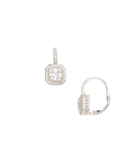 6e5b3bb82 Contessa Di Capri Cubic Zirconia & Sterling Silver Cushion-Cut Drop ...