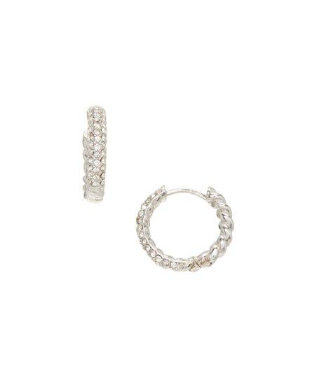 408731a1c Contessa Di Capri Cubic Zirconia & Sterling Silver Braided Hoop ...