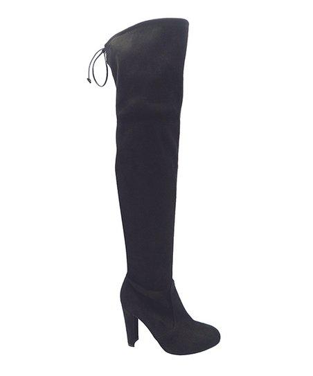 c5e972abd97 Wild Diva Black Amaya Over-the-Knee Boot - Women