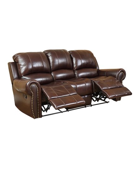 Dark Burgundy Kennedy Leather Reclining Sofa