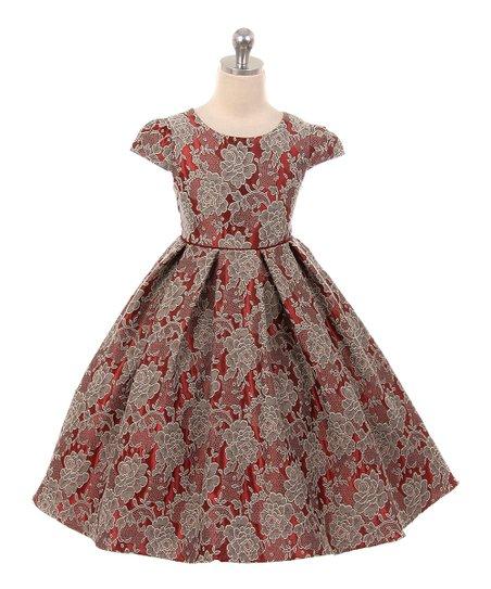 cc34f1b94 Kid s Dream Red Pattern Cap Sleeve Dress - Girls