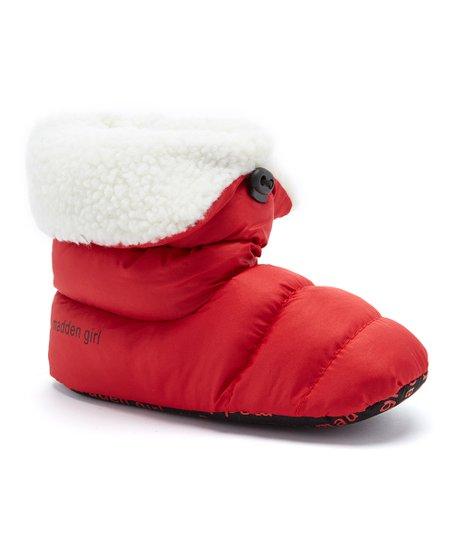 Madden Girl Red Puffer Slipper Boot