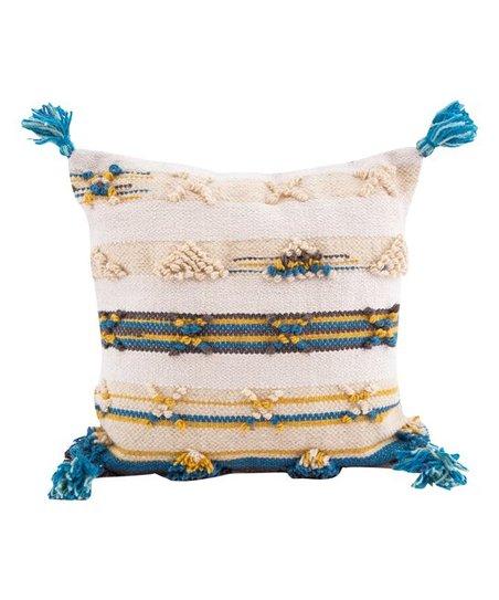 Karma Living Natural Boho Tassel-Corner Throw Pillow