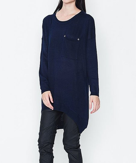 e71ee16075d love this product Navy Pocket Hi-low Sweater