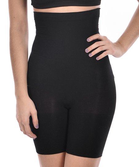 c1fc9efd0821 Body Beautiful Black Moderate Compression High-Waist Shaper Shorts ...