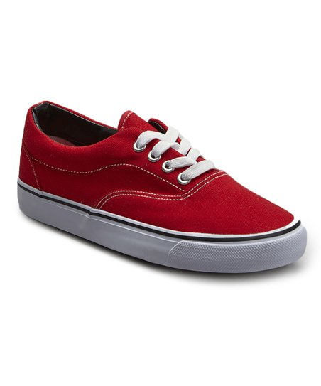 Red Classic Canvas Sneaker - Women