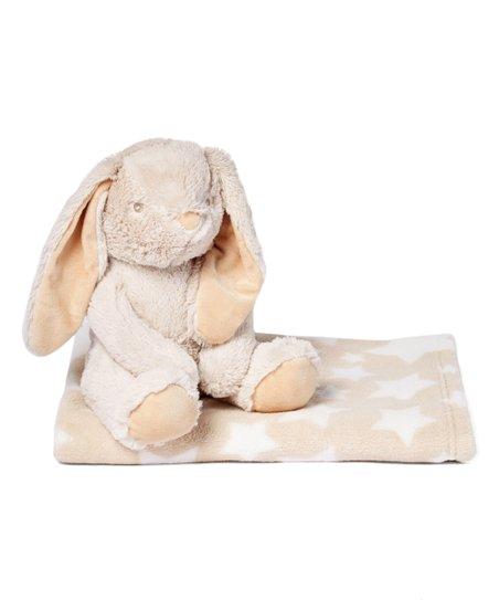 Mon Petit Chou Beige Long Eared Bunny Plush Toy Blanket Set Zulily