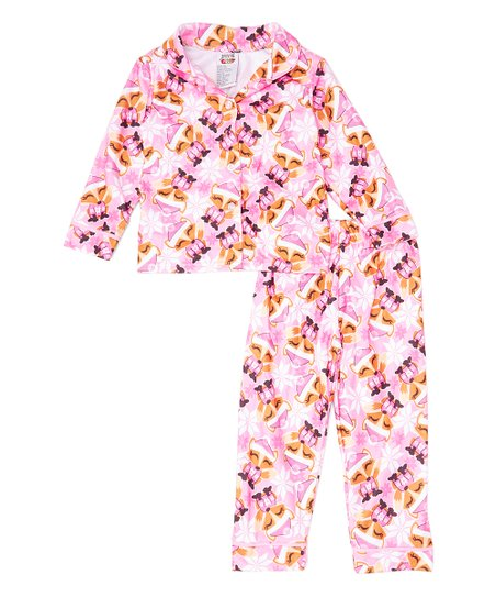 f409b2a7a 1000% Cute Pink Fox Flannel Pajama Set - Infant