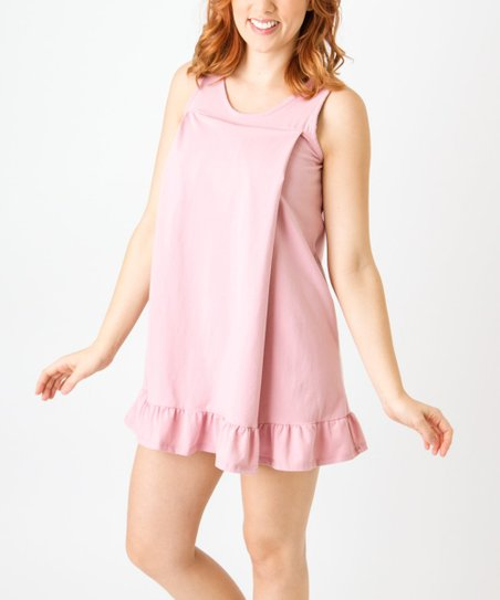 ee410d8af7b5 love this product Pink Ruffle Maternity Nursing Nightgown