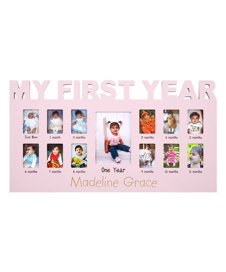 Personal Creations Pink Babys First 12 Months Frame Zulily