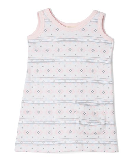 47eee59e1 love this product Pink Geometric Organic Shift Dress - Infant, Toddler &  Girls