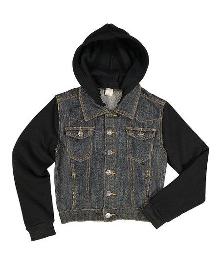 Daniel L Black Denim Jacket Boys Zulily