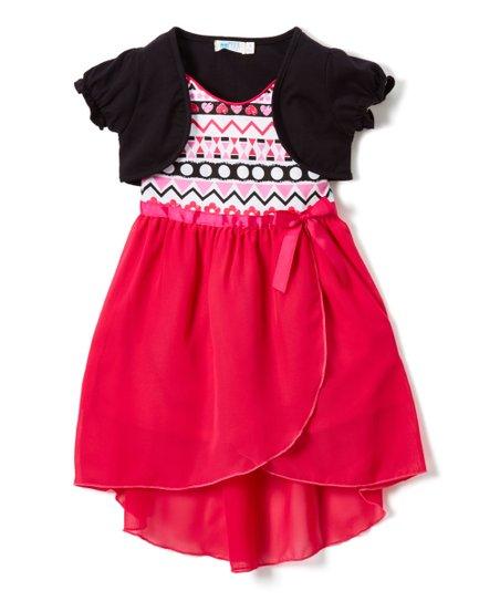 Fuschia Chiffon Dress Party Time