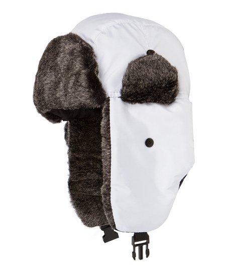 White Trapper Hat