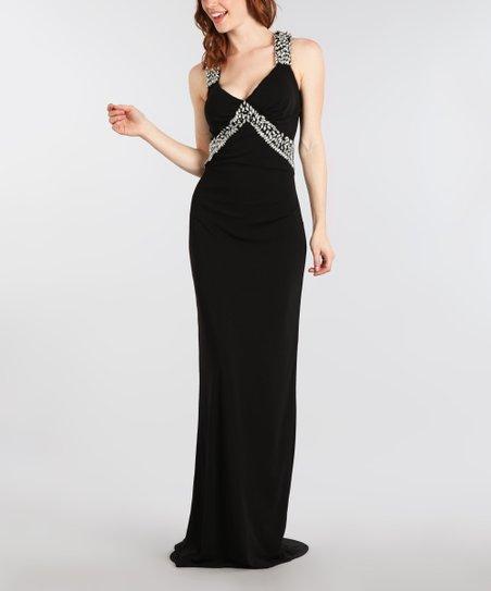 1d93b7a71c Spy Dresses Black Jasmine Gown   Zulily