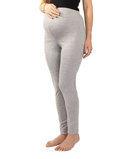 8a5a15ffc8d94 Anticipation Heather Gray Over-Belly Heavyweight Maternity Leggings ...