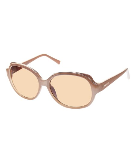 800b5535d1a Nine West Brown Tinted-Lens Round Sunglasses