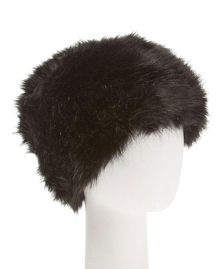 da7b01110fab2 love this product Black Faux Fur Hat - Women