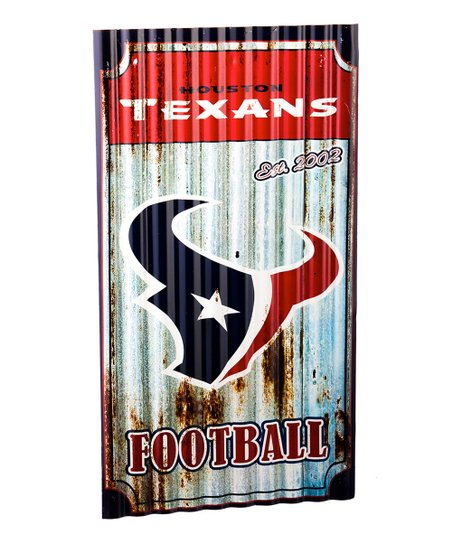Houston Texans Corrugated Metal Wall Art Zulily