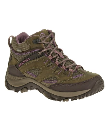 ff85639cb9c Merrell Brindle Salida Mid-Top Waterproof Leather Hiking Boot