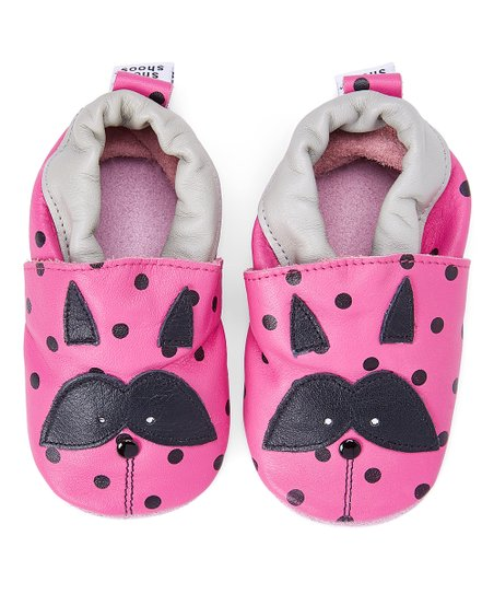 80ee76c8d16e Shooshoos Pink   Black Naughty Raccoon Leather Booties