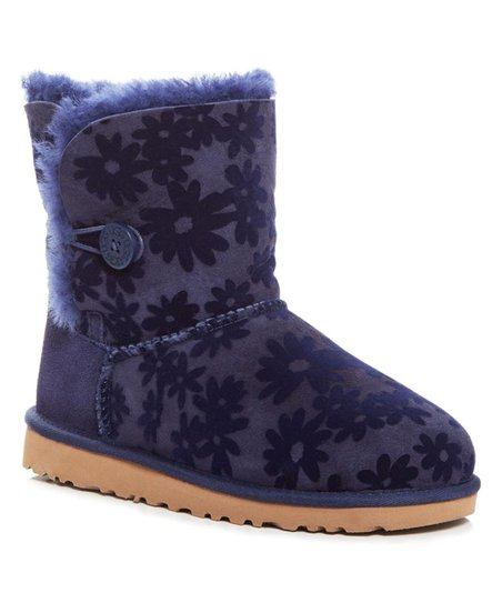 b14dc3ca3f6 UGG® Navy Bailey Button Flowers Suede Boot - Toddler & Little Kids