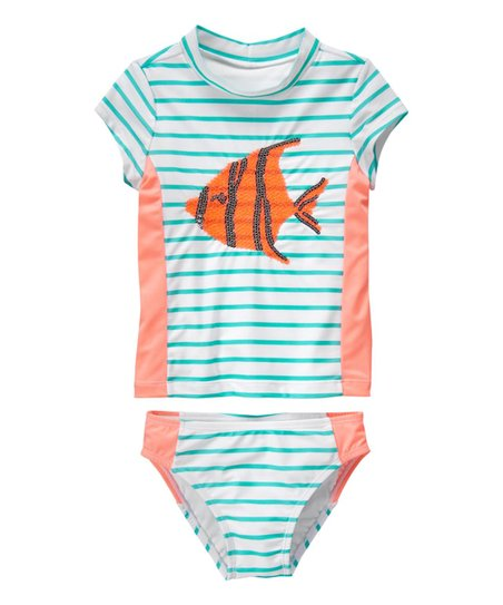 Gymboree Little Girls 3-Piece Rashguard//Bikini Set