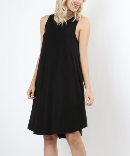 Zenana Black Sleeveless Shift Dress Women Zulily
