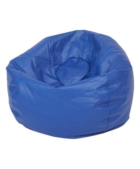 Ecr4kids Blue Classic Faux Leather Bean Bag Zulily