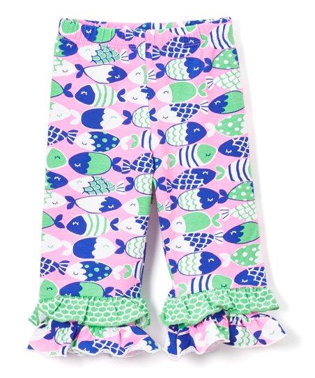 cc256b213110f Flap Happy Fish Bliss Double Ruffle Capri Pants - Infant