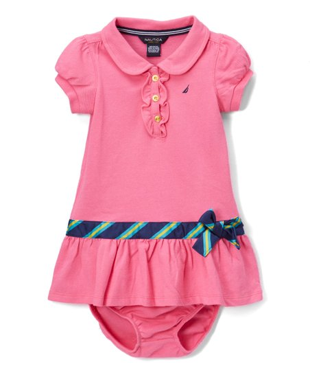 8225fefb love this product Pink Piqué Polo Dress - Infant, Toddler & Girls