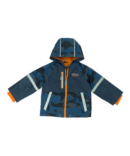 1c4002ce17b5 London Fog Navy   Orange Camo Print Jacket - Infant