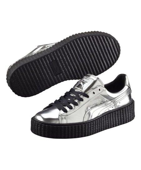 love this product Silver   Puma Black Basket Platform Metallic Sneaker -  Women 578e1d0bc