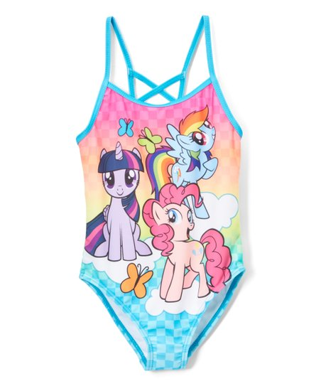 f11e1a192f275 Dreamwave Apparel My Little Pony One-Piece Swimsuit - Girls | Zulily