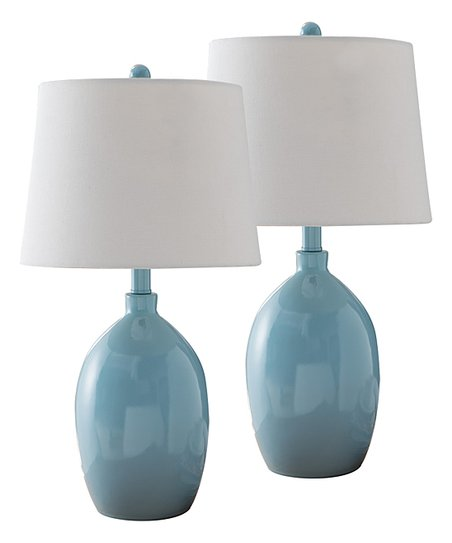 Pilaster Designs Blue White Table Lamps Set Of Two Zulily